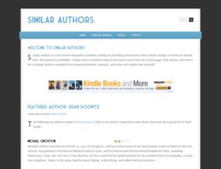 similarauthors.com screenshot