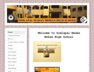 simlapalmmhighschool.jimdo.com screenshot