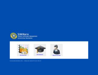 simnaro.narotama.ac.id screenshot