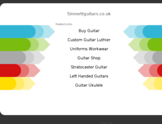 simnettguitars.co.uk screenshot