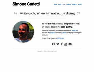 simonecarletti.com screenshot
