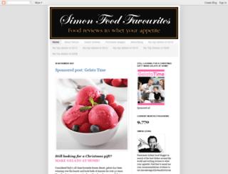 simonfoodfavourites.blogspot.com screenshot