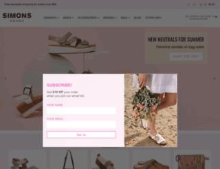 simonsshoes.com screenshot