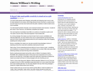 simonwillison.com screenshot