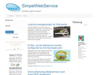 simpelwebservice.de screenshot