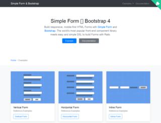 simple-form-bootstrap.plataformatec.com.br screenshot