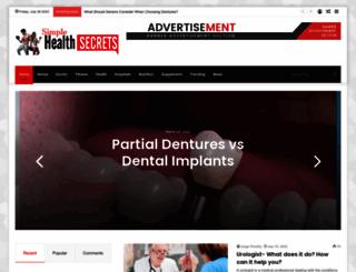 simple-health-secrets.com screenshot