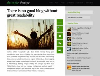 simple-snipe-blog.blogspot.in screenshot