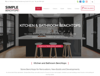 simplebenchtops.com.au screenshot