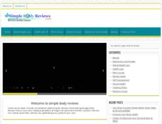simplebodyreviews.com screenshot