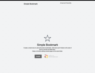 simplebookmark.info screenshot