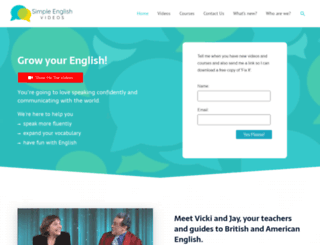 simpleenglishvideos.com screenshot