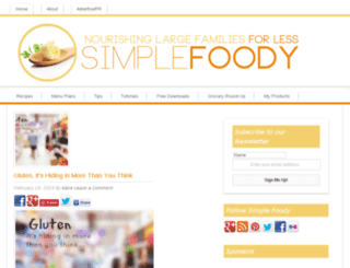 simplefoody.org screenshot