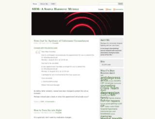 simpleharmonicmuddle.wordpress.com screenshot