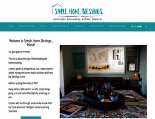 simplehomeblessing.com screenshot