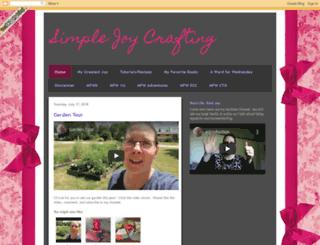 simplejoycrafting.blogspot.com screenshot