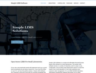 simplelimssoftware.com screenshot