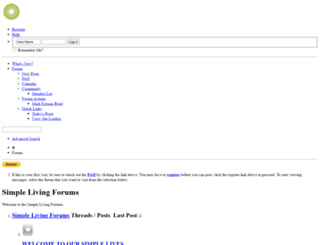 simplelivingforum.net screenshot