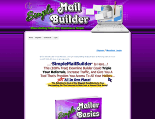 simplemailbuilder.com screenshot