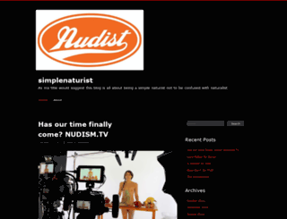 simplenaturist.wordpress.com screenshot