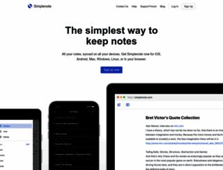 simplenoteapp.com screenshot