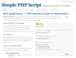 simplephpscript.com screenshot
