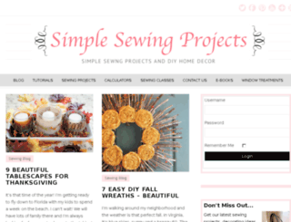 simplesewingprojects.com screenshot