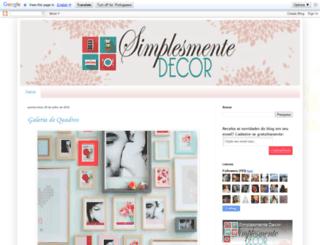 simplesmentedecor.blogspot.com screenshot