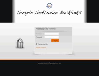 simplesoftwarebacklinks.com screenshot