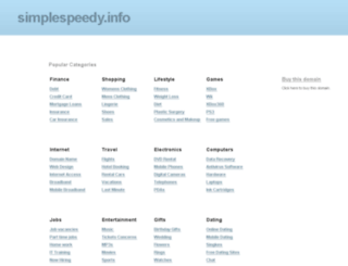 simplespeedy.info screenshot