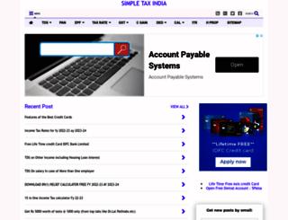 simpletaxindia.net screenshot