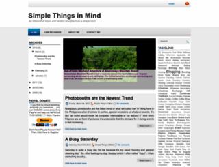 simplethingsinmind.blogspot.com screenshot