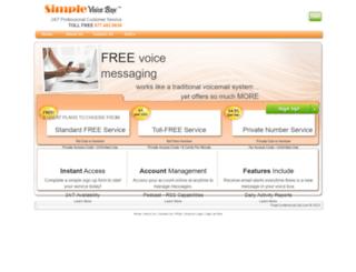 simplevoicebox.com screenshot