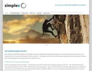 simplex-ub.at screenshot