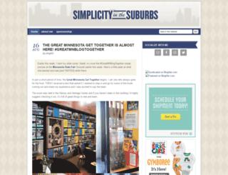 simplicityinthesuburbs.com screenshot