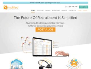 simplifiedrecruitment.com screenshot