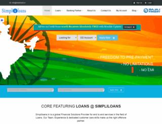 simpliloans.in screenshot