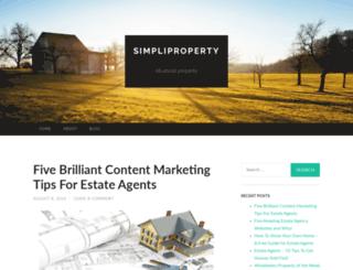 simpliproperty.wordpress.com screenshot