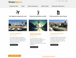 simply-algarve.com screenshot