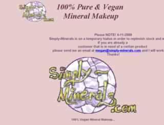simply-minerals.com screenshot