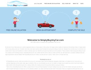 simplybuyanycar.com screenshot