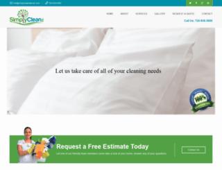 simplycleandenver.com screenshot