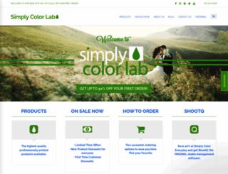 simplycolorlab.com screenshot