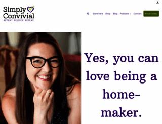 simplyconvivial.com screenshot