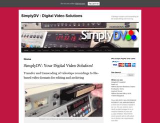 simplydv.co.uk screenshot