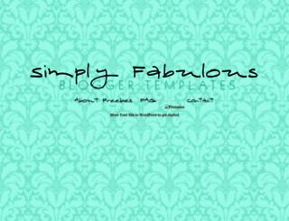 simplyfabulousbloggertemplates.com screenshot