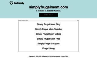 simplyfrugalmom.com screenshot
