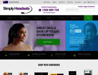simplyheadsets.com.au screenshot