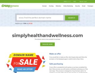 simplyhealthandwellness.com screenshot