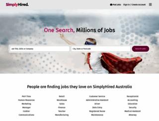 simplyhired.com.au screenshot